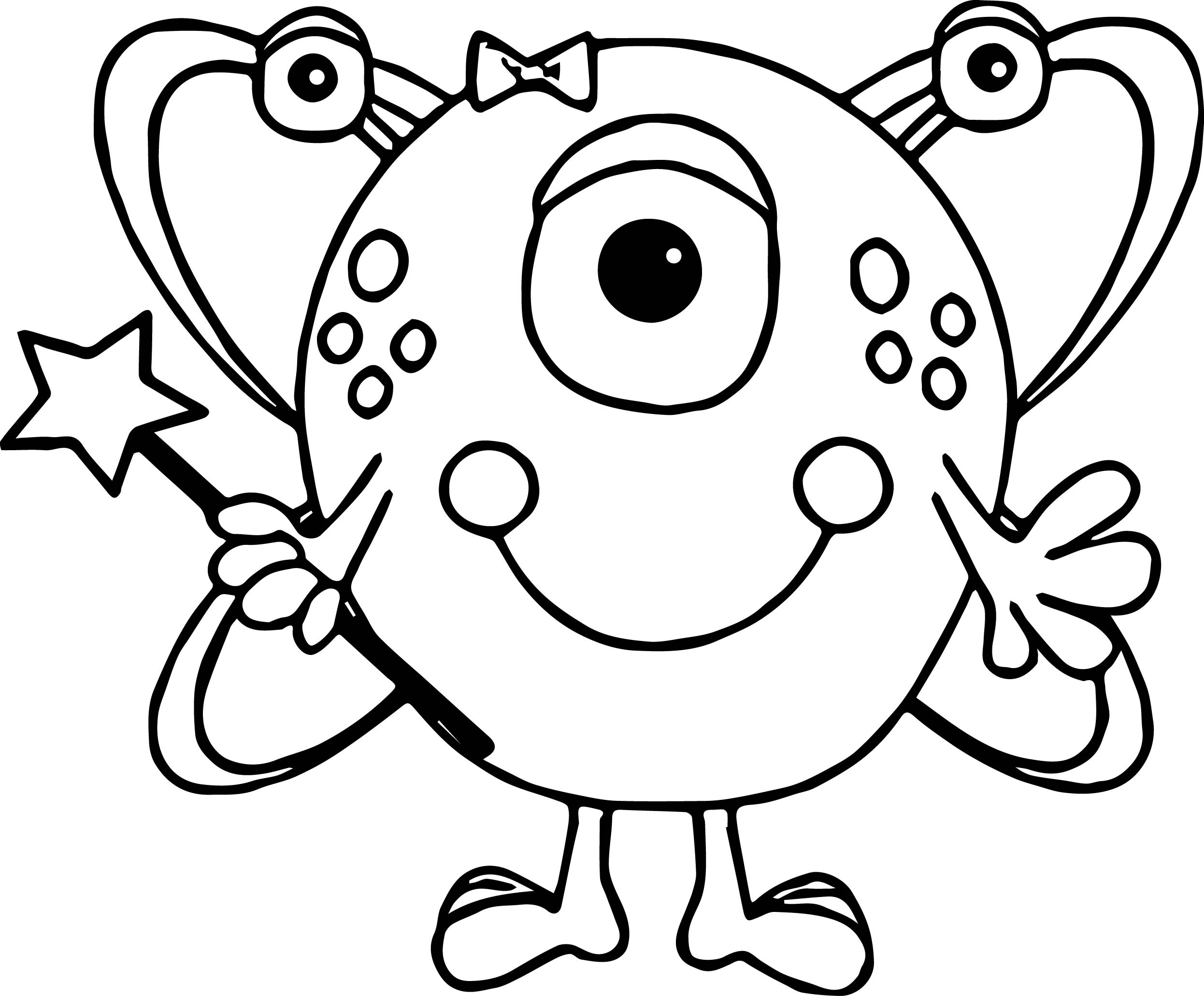 Cute Alien Coloring Pages - Costumepartyrun