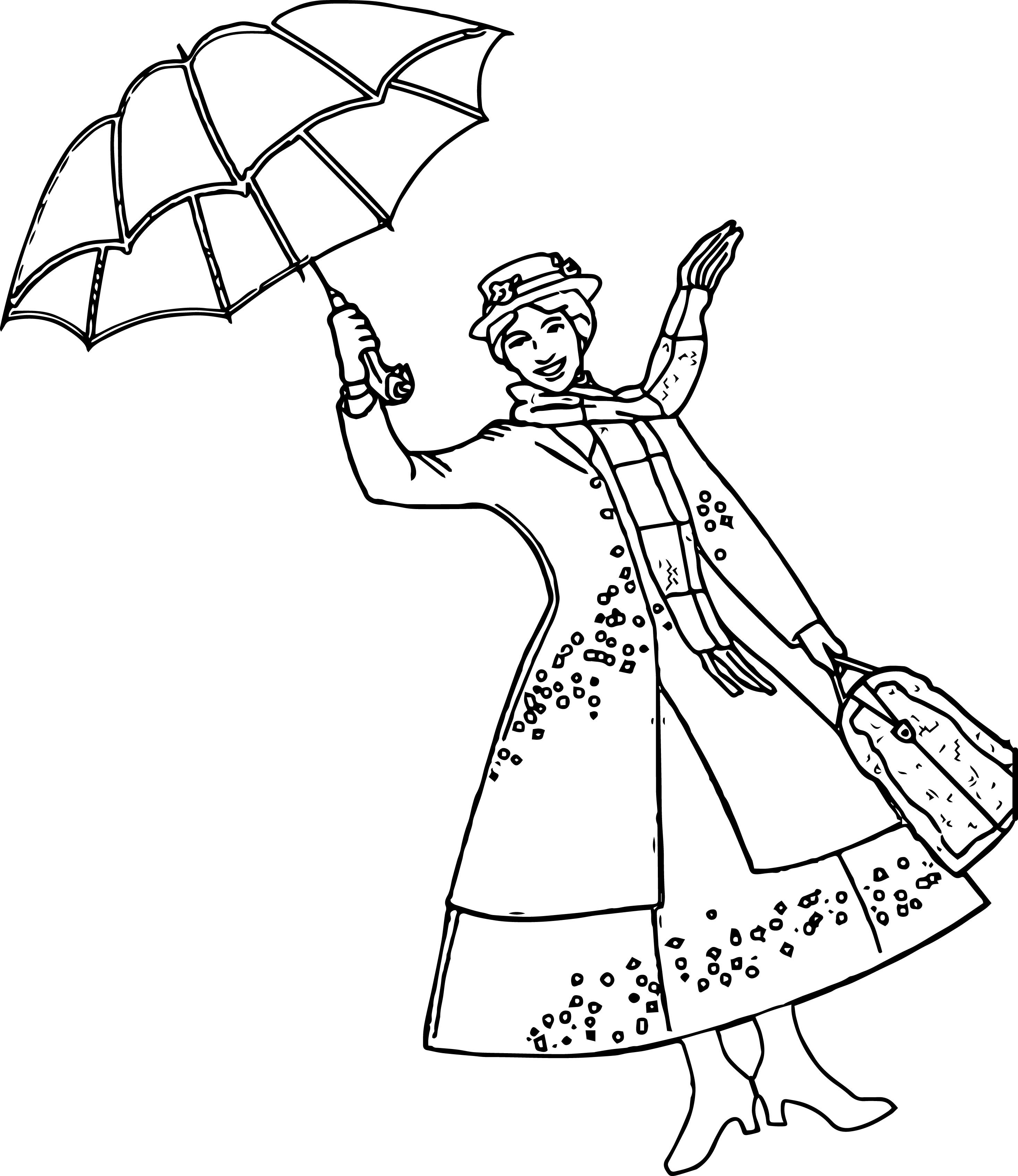 Mary Poppins Coloring Pages Free High Quality Coloring - hd ...