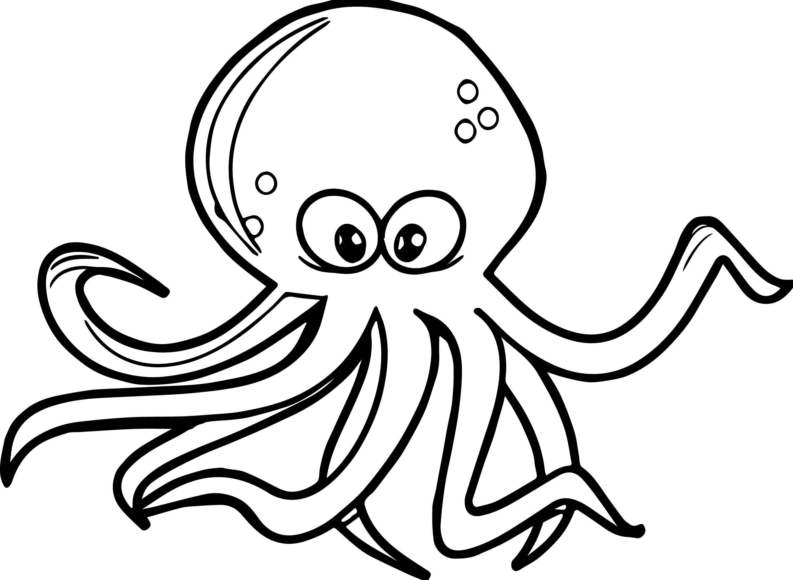 Octopus Color Page - Democraciaejustica