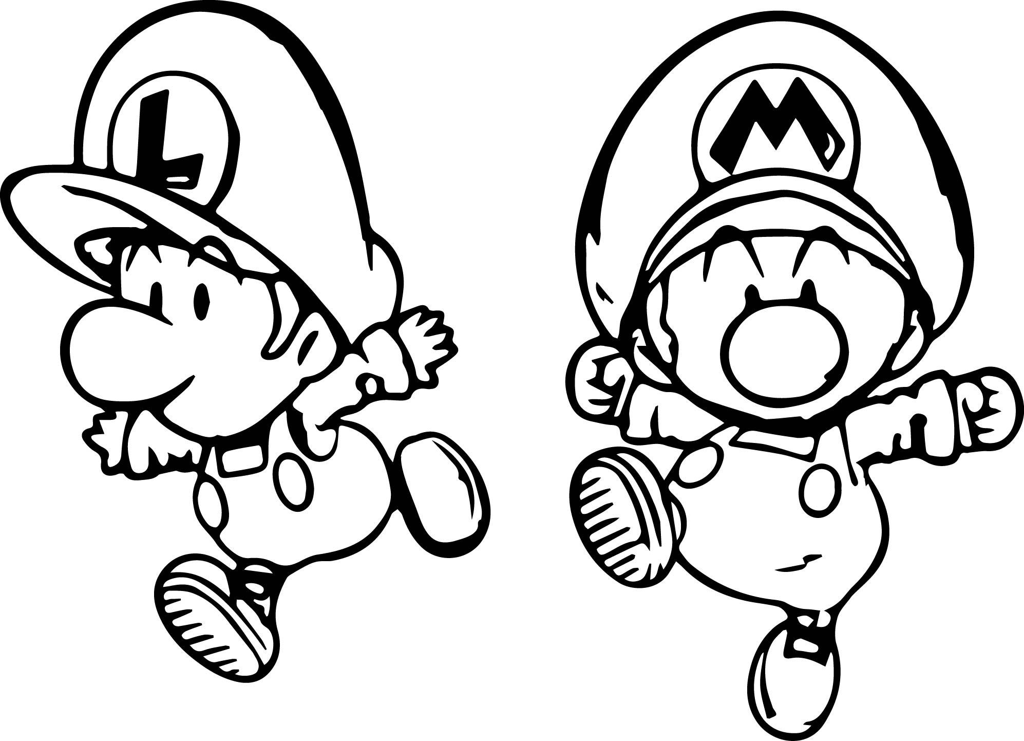 Berühmt Mario Und Luigi Color Pages Zum Drucken Galerie - Entry ...