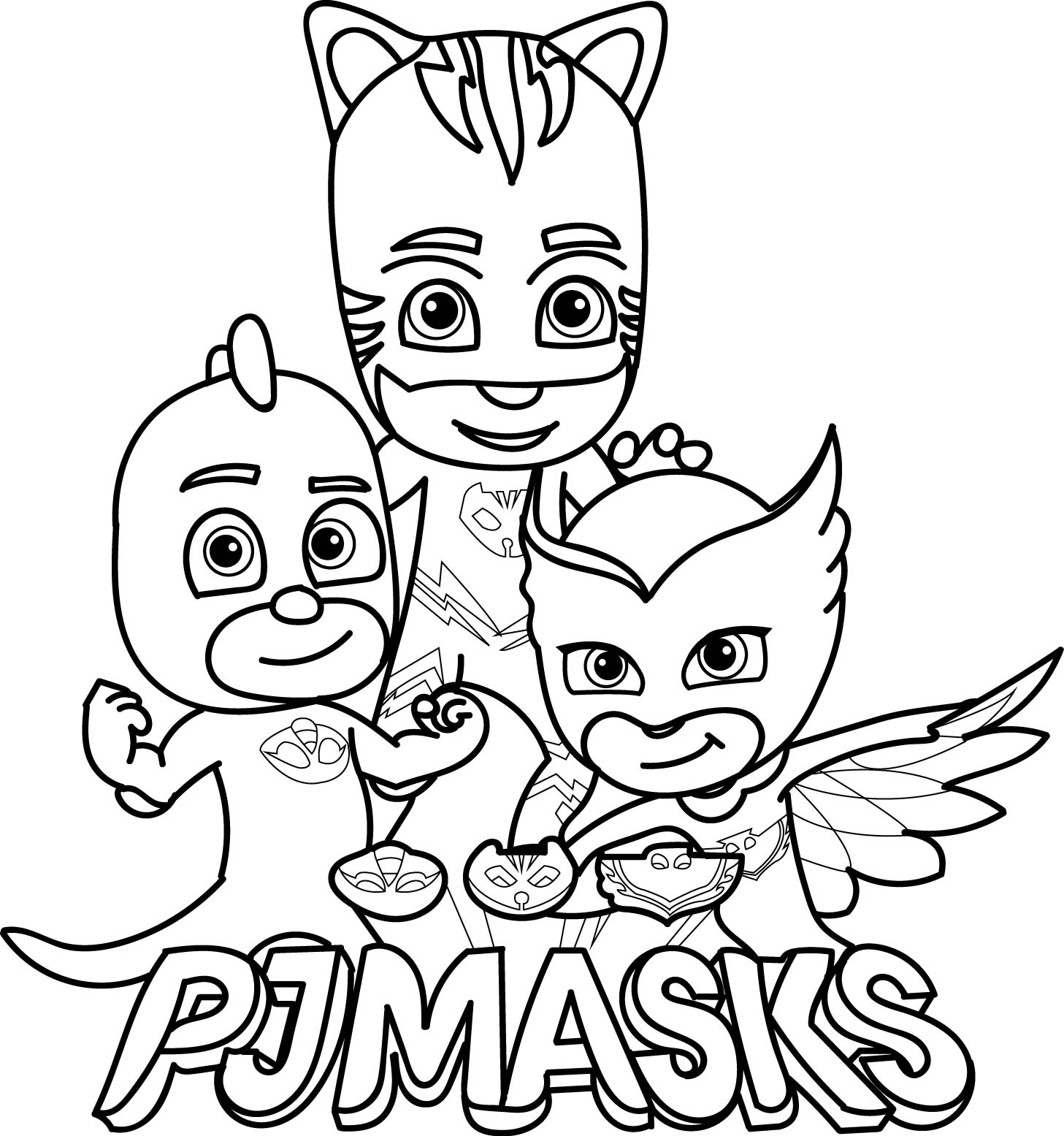 Disney pj masks coloring sheets -  Pj Masks Coloring Page Download