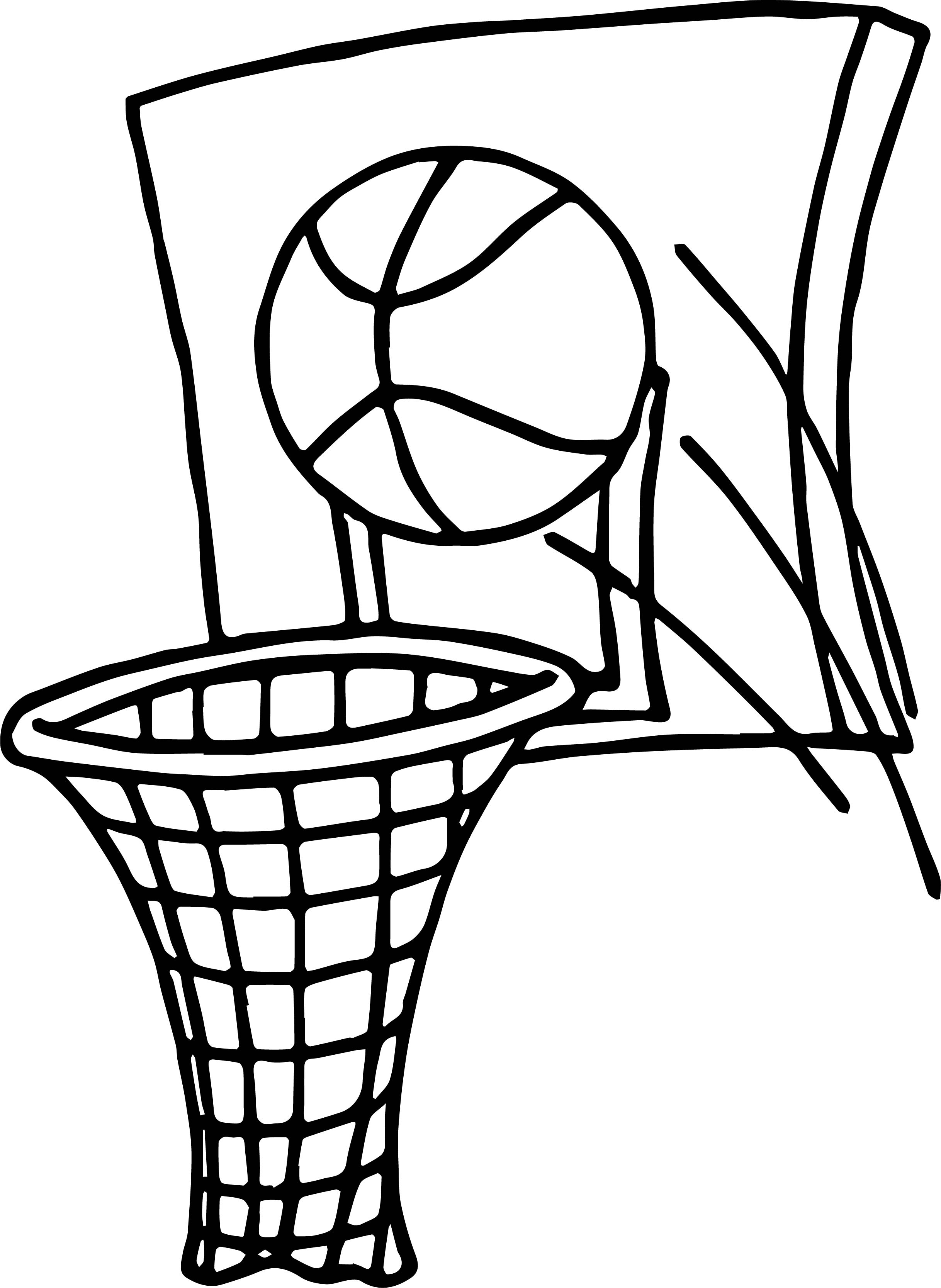 coloring pages basketball - Basketball Coloring Pages Boys