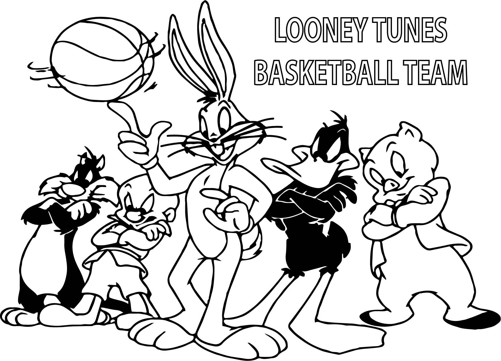 Basketball Team Coloring Pages Democraciaejustica