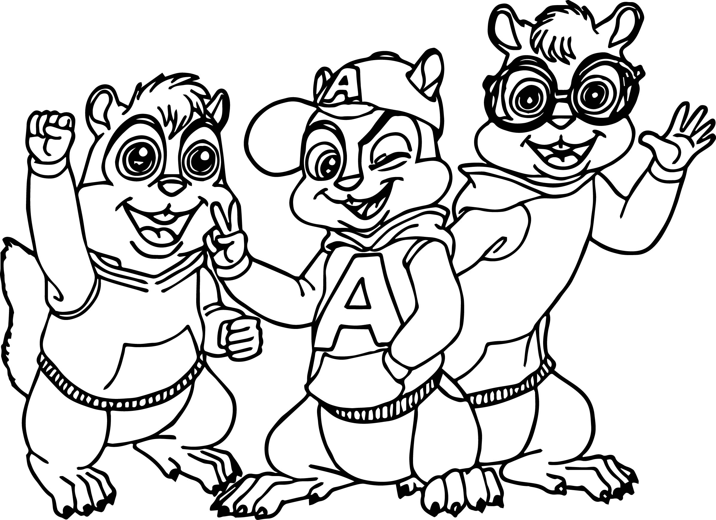 Alvin And The Chipmunks Coloring Pages - Costumepartyrun