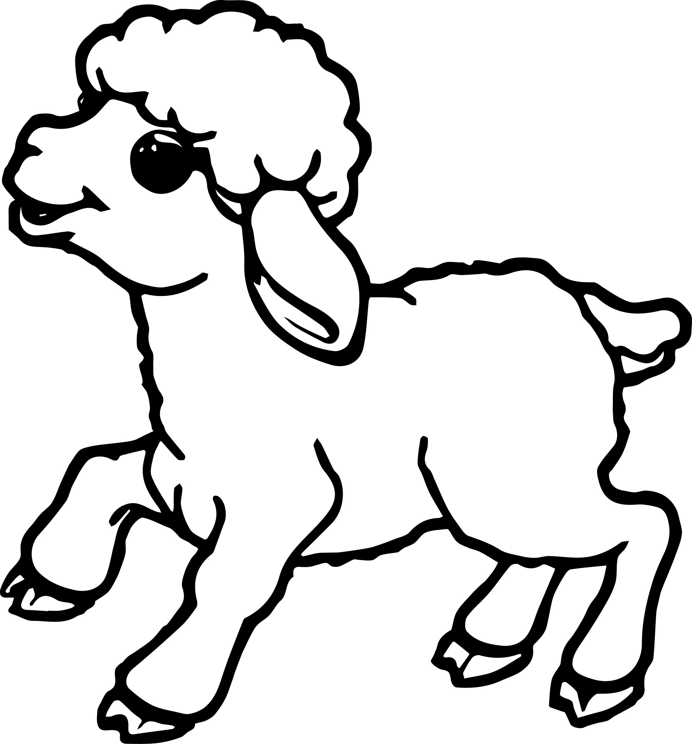 Cute Sheep Drawing Tumblr Cute Small Sheep Coloring Page Wecoloringpage