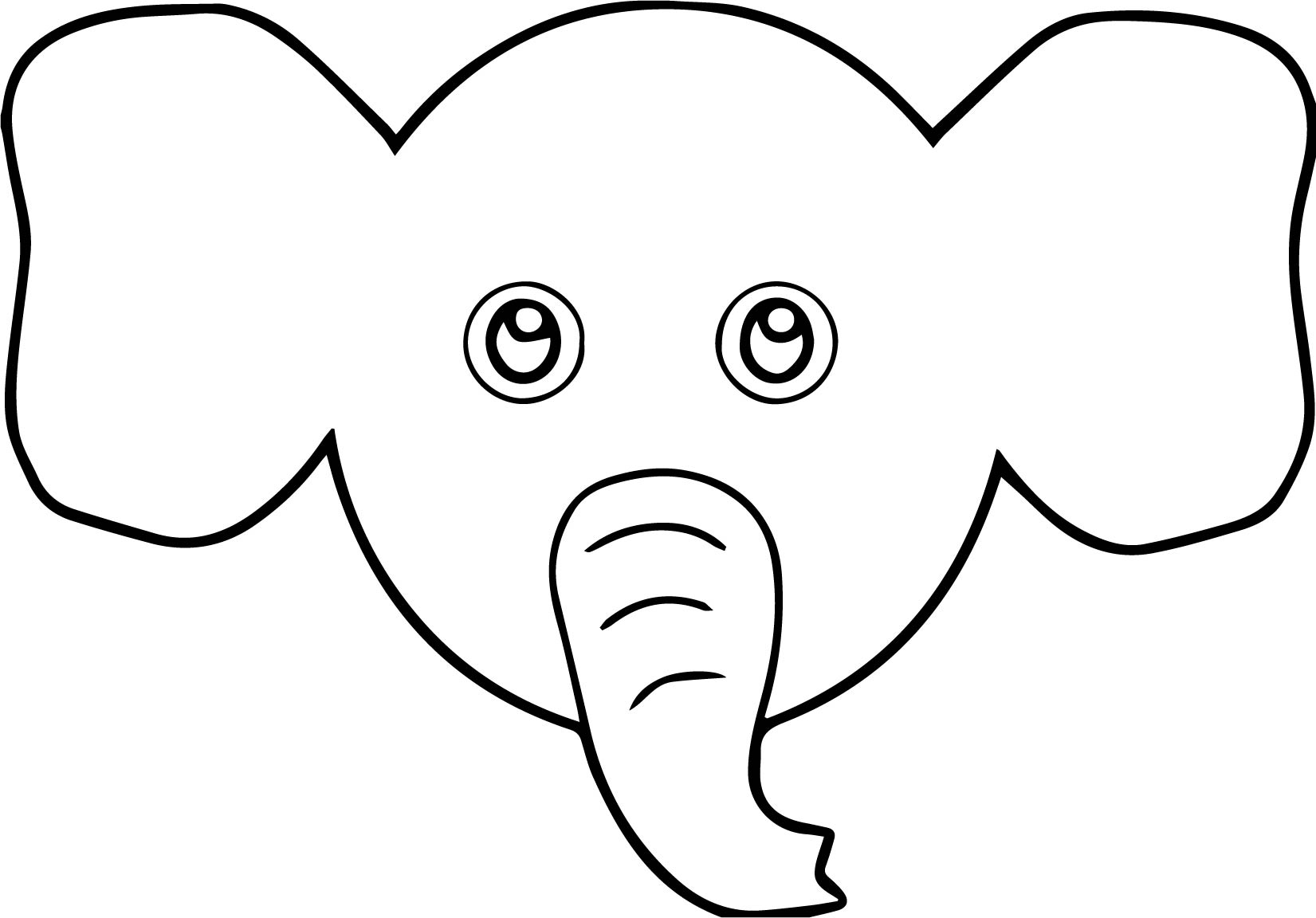 Elephant Face Coloring Page - Democraciaejustica
