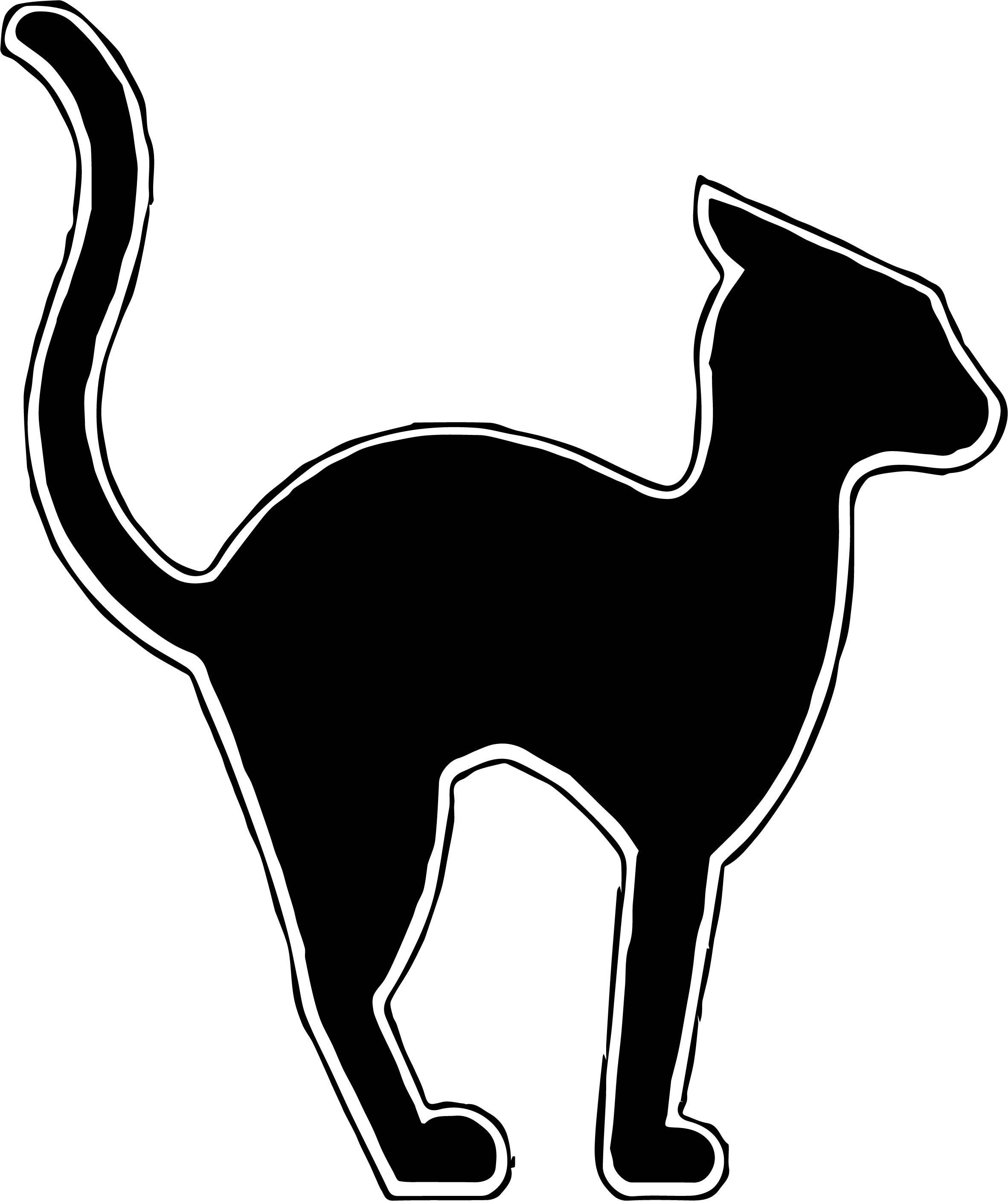 Waiting Black Cat Coloring Page Wecoloringpage Com