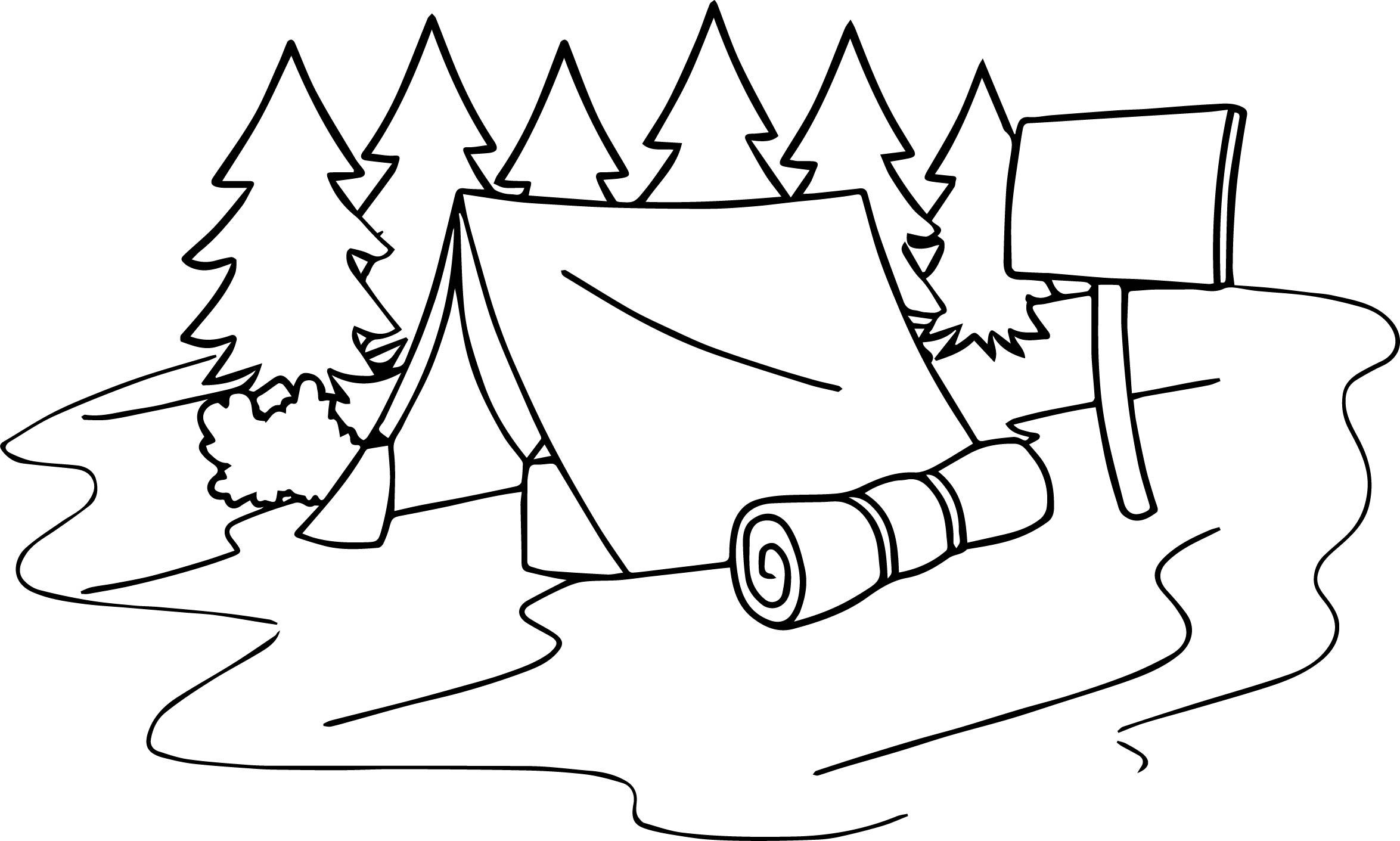 Summer Camp Coloring Pages - Eskayalitim