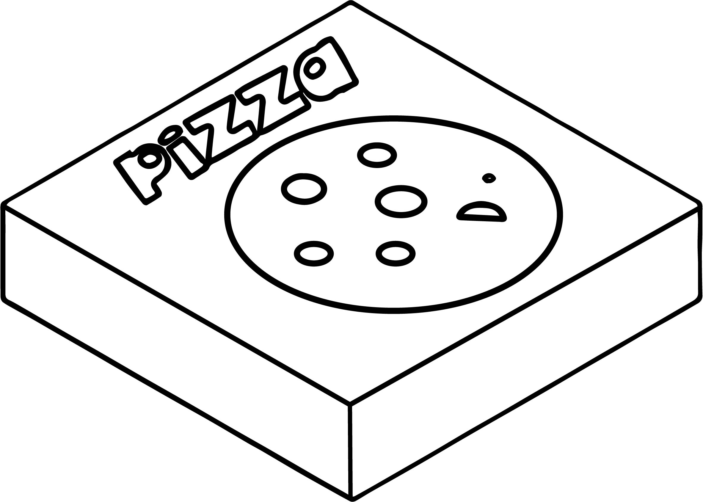 Illustration Of A Pizza Box Coloring Page Wecoloringpagecom