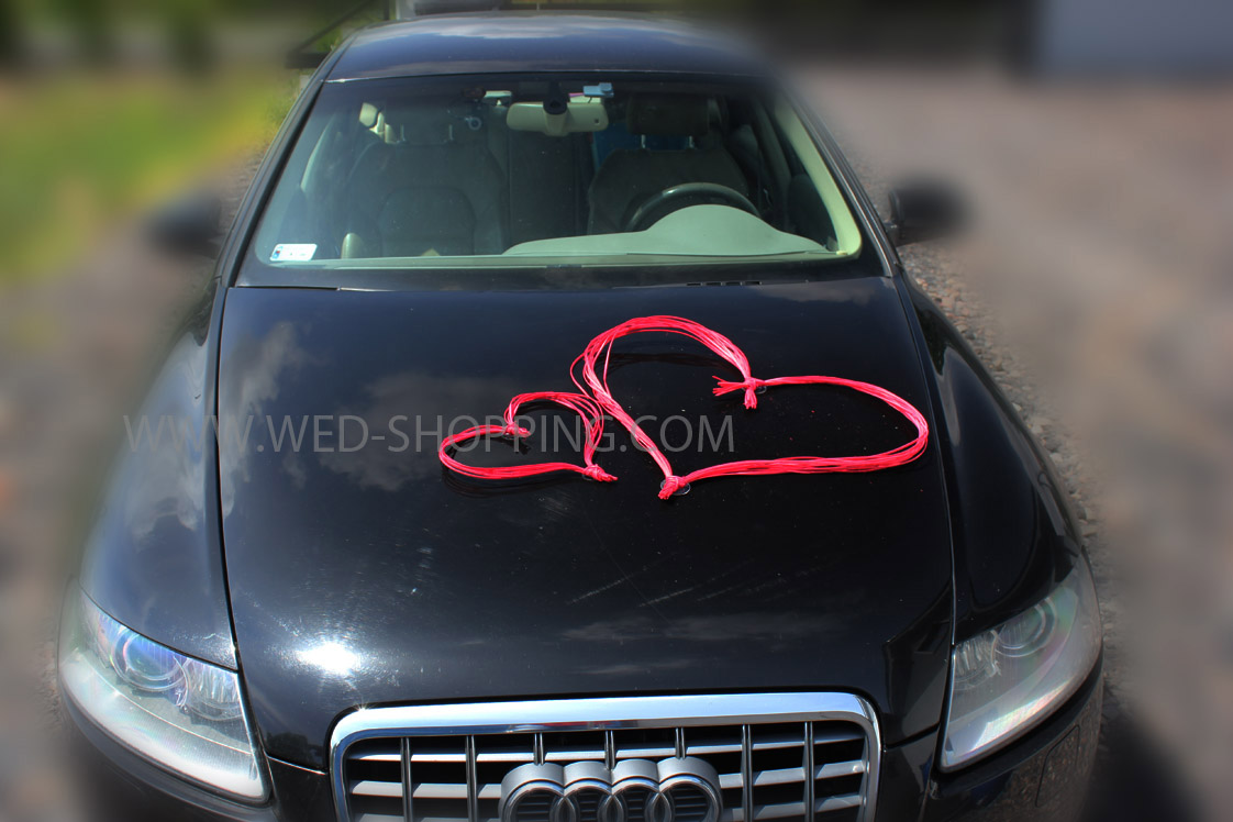 Car Decoration Weding Red Hearts For Car Decoration