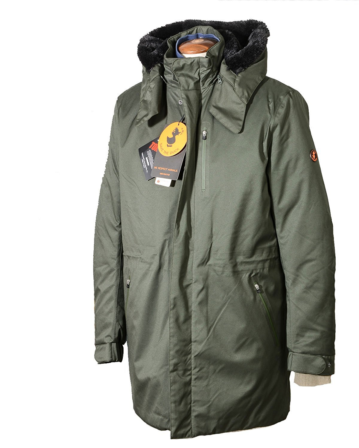 Save The Duck Parka Uomo Tessuto Twin5 Mod D4344m - Save The Duck