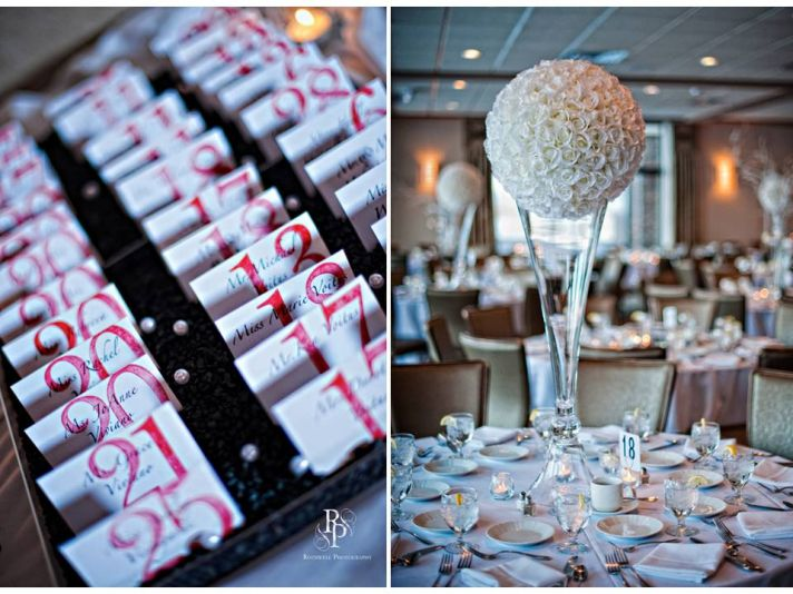 Tanya\u0027s blog Black white and red wedding reception escort cards
