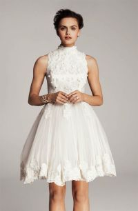 25 Lacy Little White Dresses for the Reception | OneWed