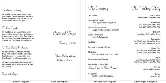Hadilu0027s blog Elegant Wedding Program Template Personalized - wedding agenda sample