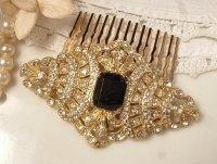 Vintage Bridal Hair Comb Art Deco | OneWed.com