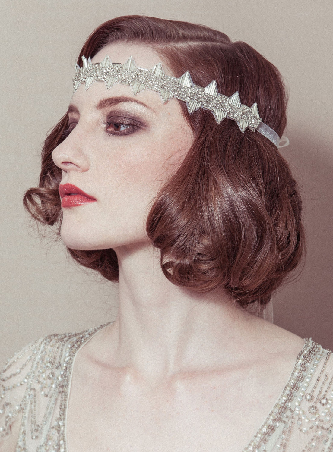 Coiffure Xy Vintage Bridal Headband Great Gatsby Onewed