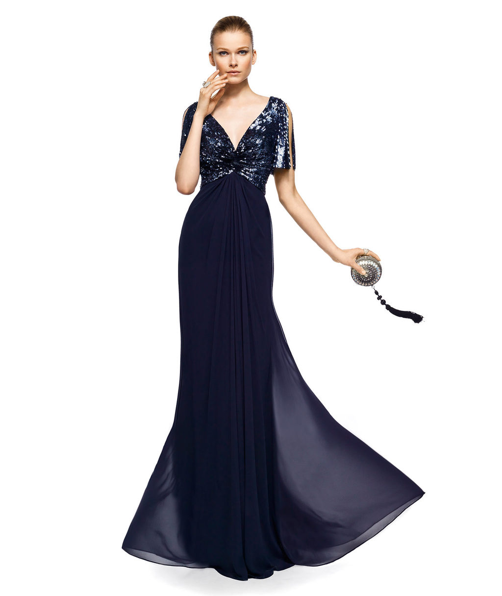 deep navy evening gown for mothers of the bride mothers wedding dresses Deep navy evening gown for mothers of the bride