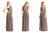 Convertible Bridesmaid Dresses by Two Birds taupe | OneWed.com