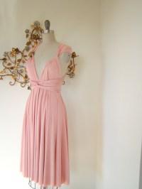 Petal pink convertible silk bridesmaid dress via Etsy ...
