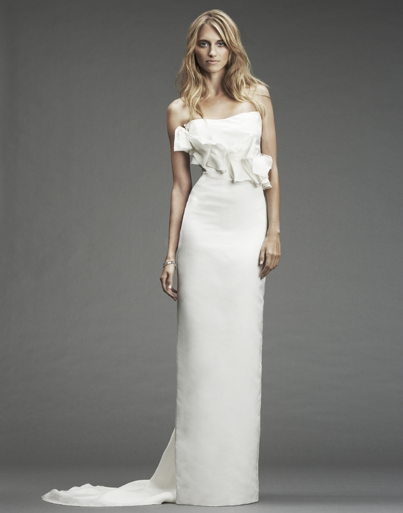 nicole miller wedding dresses Nicole Miller Pintucked Jacquard Fishtail Dress In Stores Only Nordstrom