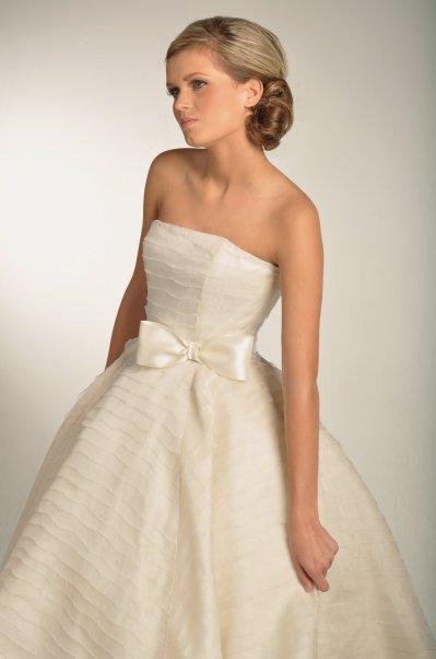 ivory wedding dress bow bridal sash