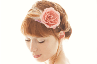 romantic wedding hair accessories SIBO designs pink bridal