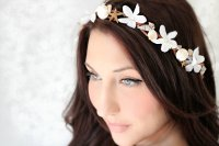 nautical wedding ideas bridal headband wedding hair ...
