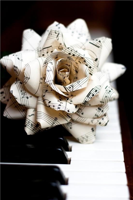 buttercream and black wedding colors elegant weddings sheet music rose