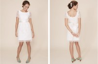 simple wedding dresses understated bridal gown lace LWD
