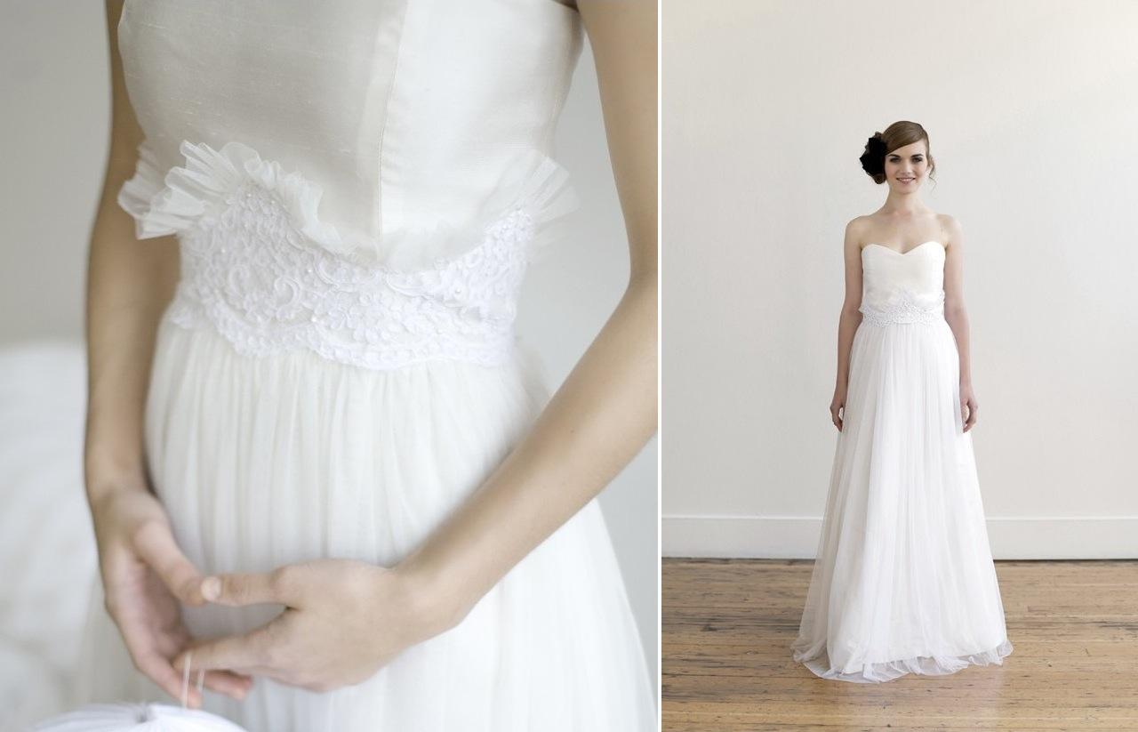 etsy wedding dresses Wedding Dresses Handmade Bridesmaid Dresses V Neck Chiffon