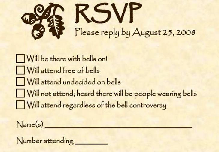funny wedding invitations RSVP