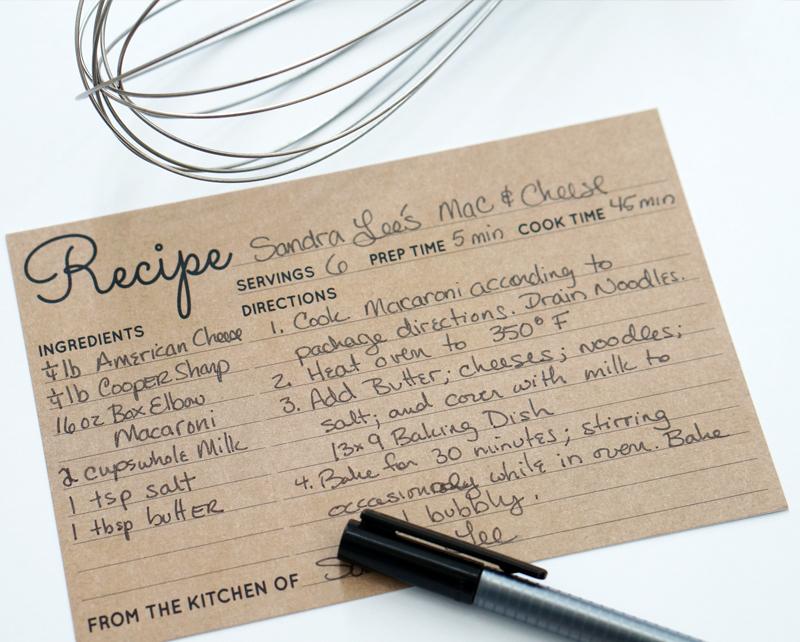 4×6 Recipe Cards in Rustic Kraft Brown Wedding Advice Cards