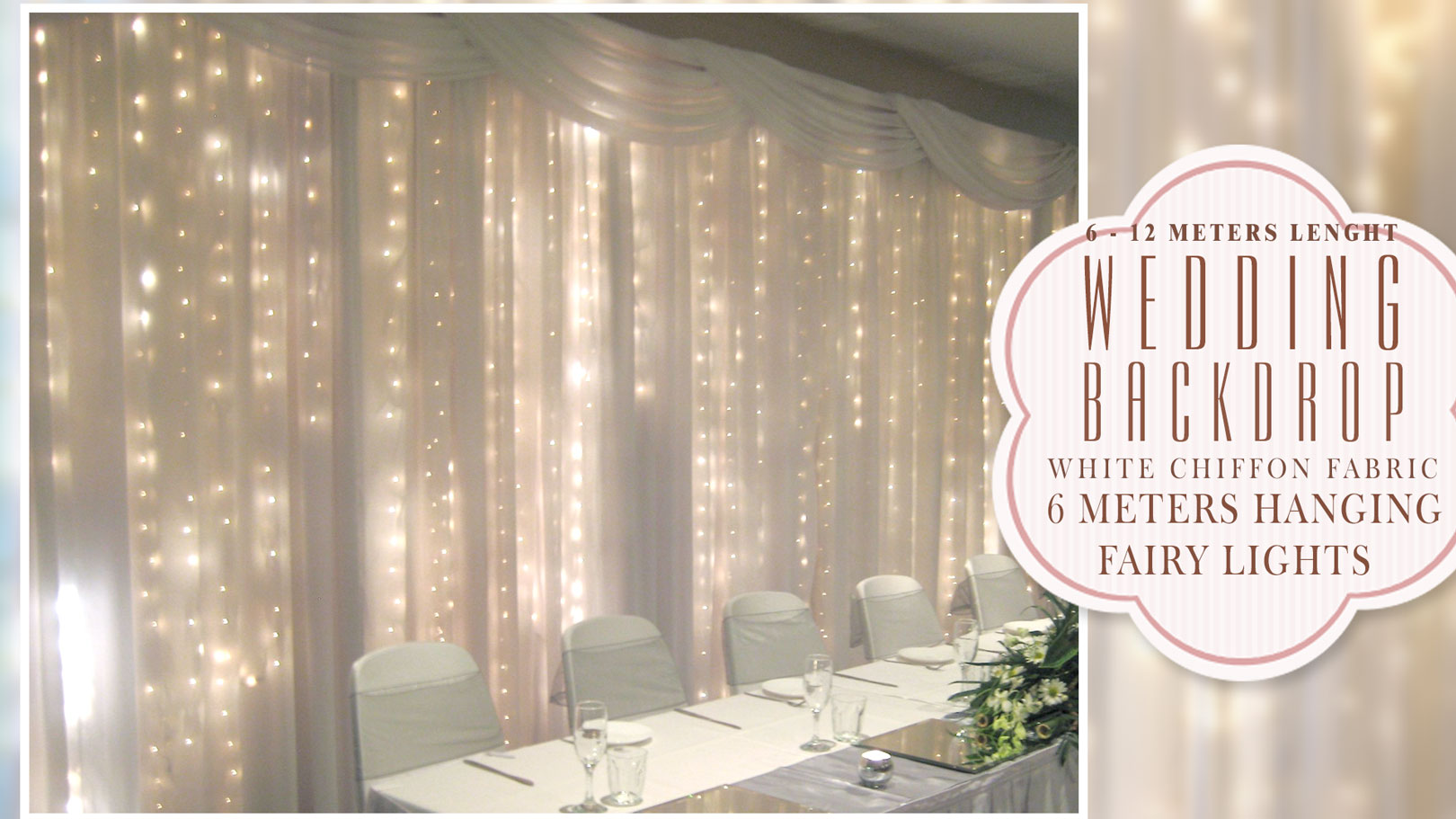 Diy Wedding Backdrop With Lights Wedding Backdrop Archives Wedding Decorations By Naz