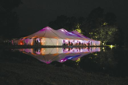 Wedding Reception Tent Lights Up The Night