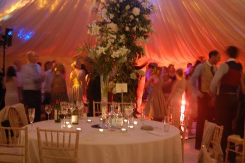 Tented Wedding with Dramatic Lighting