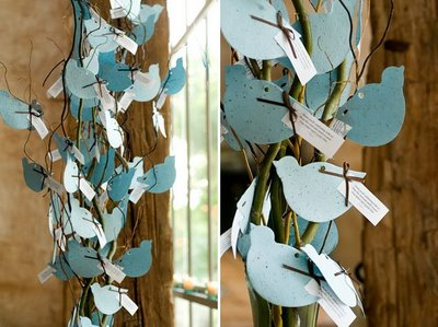 Bluebird Escort Cards