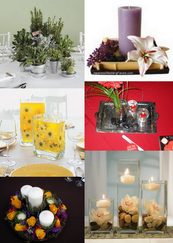 Out of the ordinary wedding centerpieces