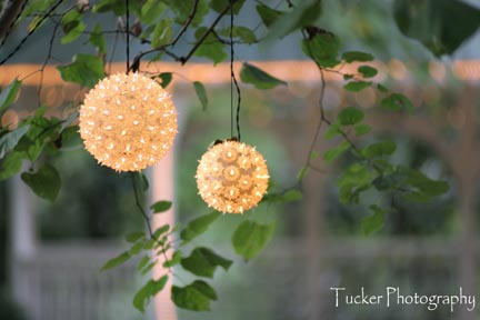 Lighted snowball decor. Jason Tucker Photography
