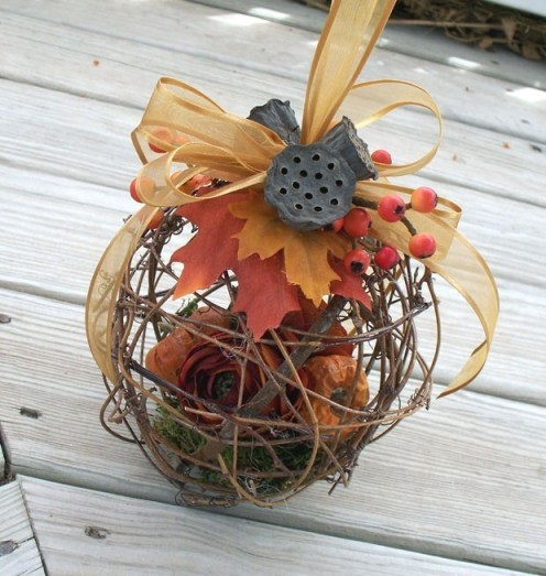 Great as a centerpiece for a fall wedding