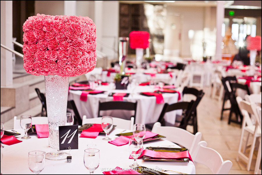 Hot Pink Black And White Wedding Decorations Decoration For Home - pink black and white weddings