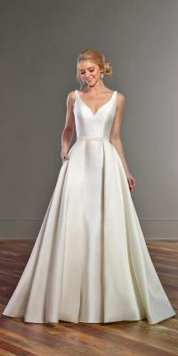 24 Excellent And Elegant Silk Wedding Dresses