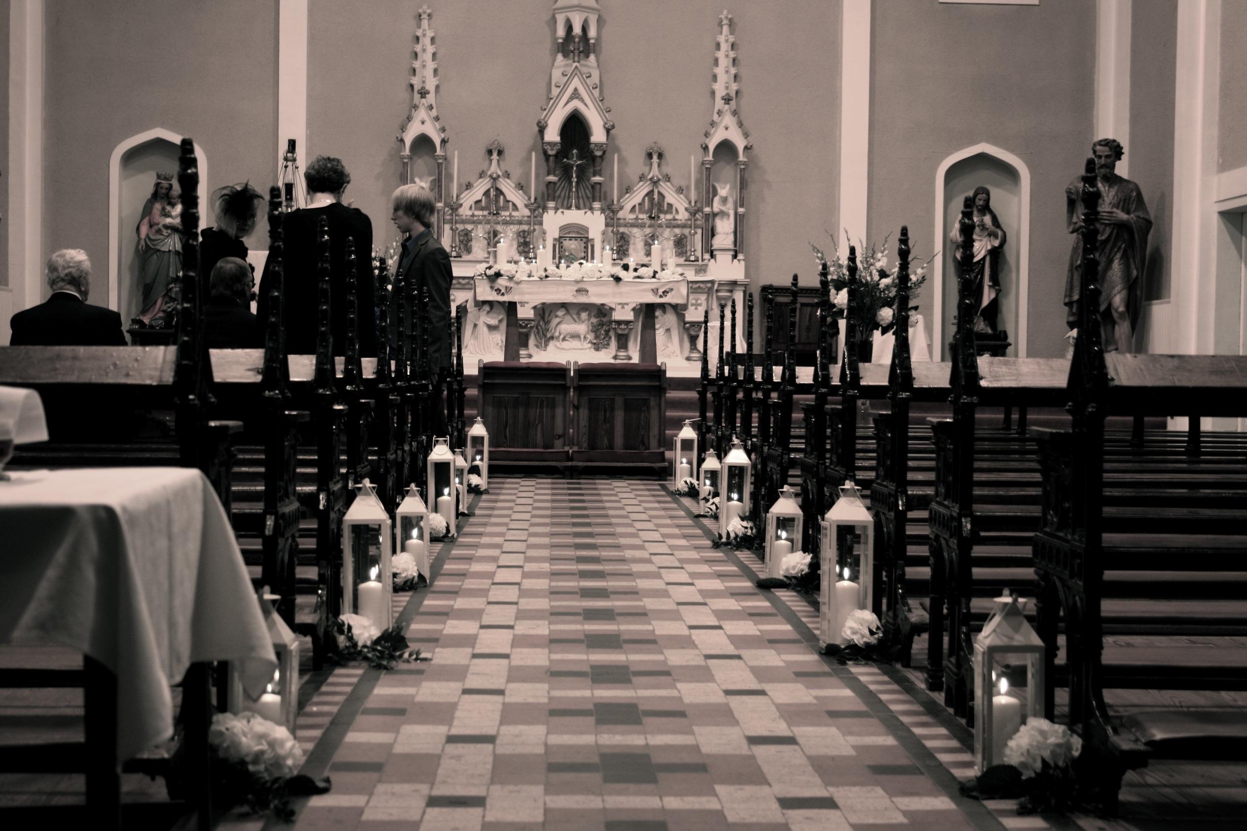 weddingflowersireland wordpress lanterns for weddings Wedding Church nearWaterford castle Ireland