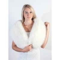 Handmade White Fox Fur Wrap | Bridal Real Fur Shawls at ...