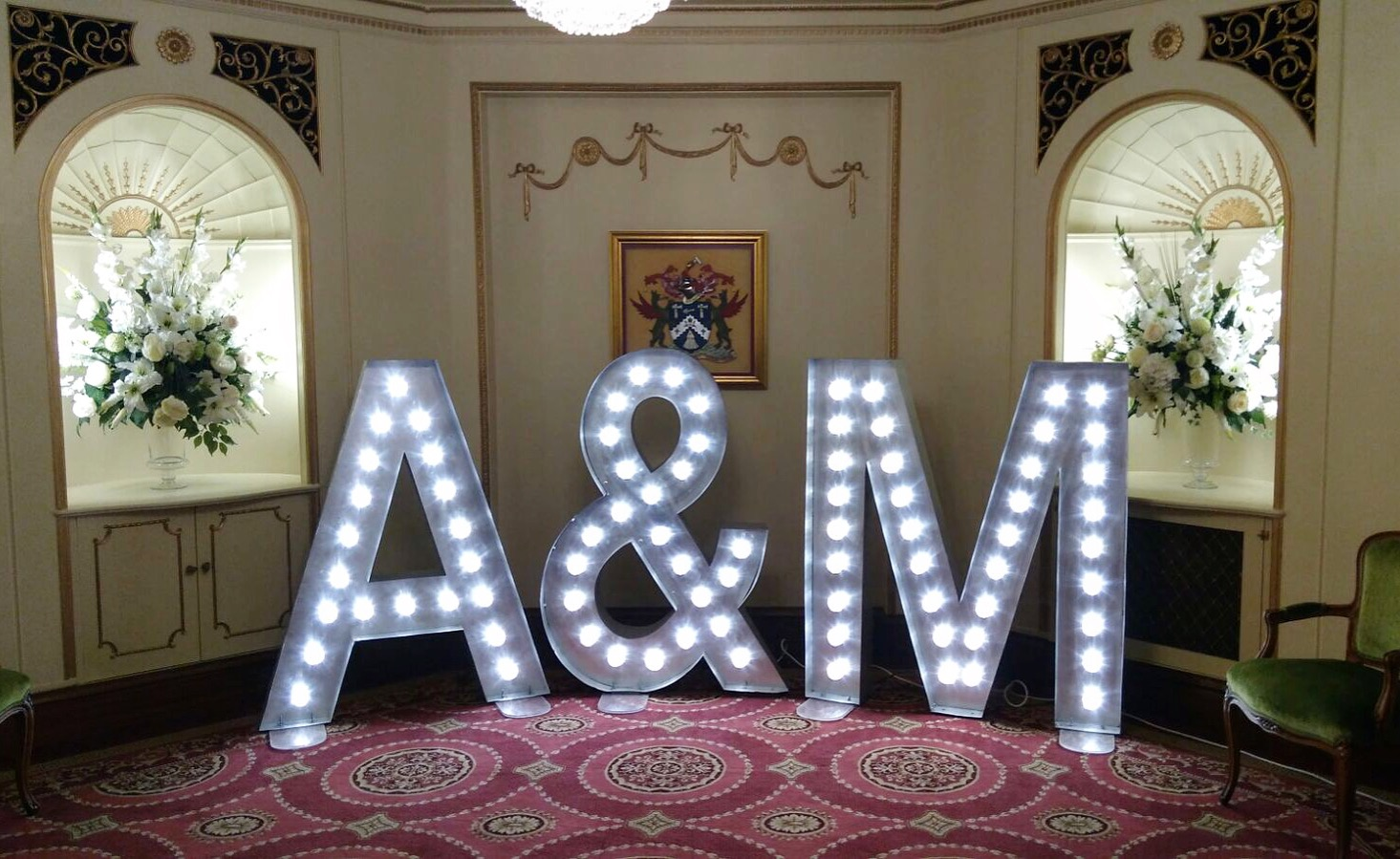 You Can Book Me Ltd Light Up Love Sign Wedding Letter Hire