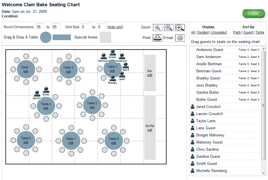 New Guest Manager and Seating Chart tool! Wedding Mapper Blog