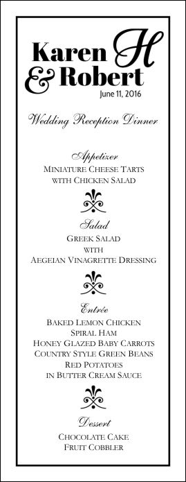 Wedding Menu Templates Perfect and Easy Menus for Your Big Day - wedding menu