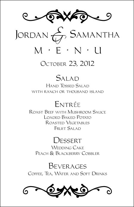 formal menu templates - Canasbergdorfbib