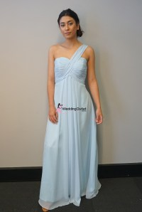 Misty Blue One Shoulder Bridesmaid Dress #F101 ...