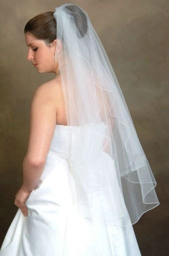 Simple wedding veil (sa-11)