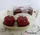 Apple Salt and Pepper shakers wedding bombonieres